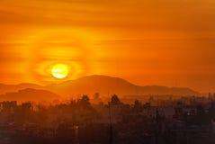 Arequipa, ηλιοβασίλεμα του Περού Στοκ Εικόνες