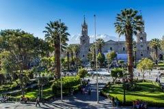 Главная площадь в Arequipa, Перу Стоковые Фотографии RF