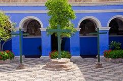 arequipa catalina kloster peru santa Arkivfoton