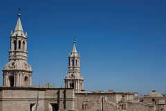 Arequipa Cathedral Stock Photography
