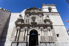 Arequipa, compagina do dela de Iglesia, igreja da empresa, Peru foto de stock