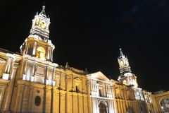 Arequipa-Kathedrale Lizenzfreies Stockfoto