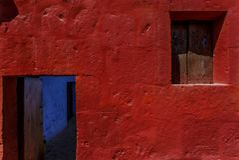Arequipa kloster av jultomten catalina, inrama för dubblett Royaltyfria Foton