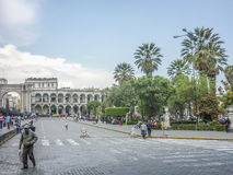 Arequipa Main Square Stock Images