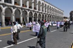 arequipa marszu Peru protest Obrazy Royalty Free