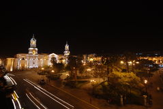 Arequipa by night Royalty Free Stock Image