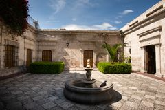 TRADITIONAL SILLAR HOUSE OF AREQUIPA, PERU stock photo