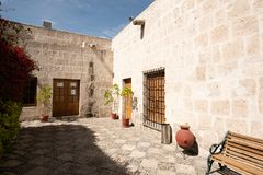 TRADITIONAL SILLAR HOUSE OF AREQUIPA, PERU royalty free stock image