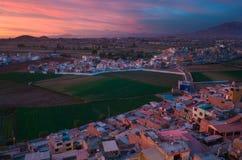 Arequipa Peru från Sachaca Arkivfoto