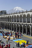 AREQUIPA, PERU - MAY 06, 2016: Corpus Christi on Plaza de Armas Stock Photos