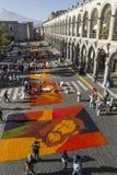 AREQUIPA, PERU - MAY 06, 2016: Corpus Christi on Plaza de Armas Royalty Free Stock Image