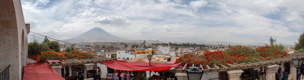 Arequipa, Peru met Misti Volcano Royalty-vrije Stock Foto