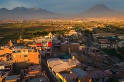 Arequipa Peru od Sachaca Fotografia Stock