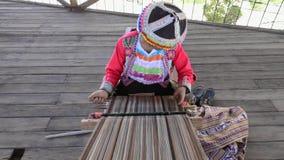 ancient techniques of weaving alpaca wool.