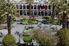 Arequipa Plac De Armas Obraz Royalty Free