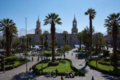 Arequipa Plaza de Armas Royaltyfri Bild
