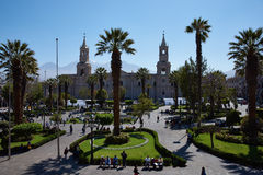 Arequipa Plaza de Armas Στοκ εικόνα με δικαίωμα ελεύθερης χρήσης