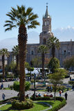 Arequipa Plaza de Armas Imagem de Stock