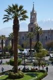 Arequipa Plaza de Armas Stockbild