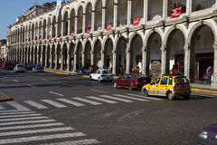 Arequipa Plaza DE Armas Stock Afbeelding