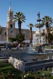 Arequipa Plaza de Armas Arkivfoto