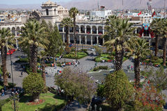 Arequipa Plaza de Armas Stock Photo