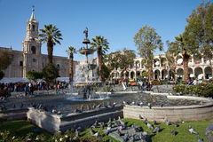 Arequipa Plaza de Armas Royalty Free Stock Photography