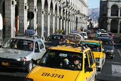 Arequipa traffic Stock Photo
