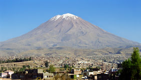 Arequipa vulcan royalty free stock image