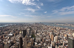 Arerial view of Manhattan. An aerial view of Lower Manhattan, New York and Hudson river Royalty Free Stock Photography
