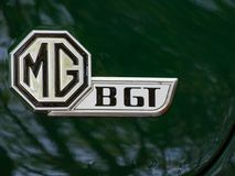 Ares Испания - эмблема автомобиля MG BGT года сбора винограда стоковые изображения rf