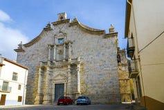 Ares del Maestrat, chiesa di parrocchia Presupposto del vergine Fotografia Stock Libera da Diritti