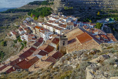 Ares del Maestrazgo  province of Valencia, Spain Stock Photography