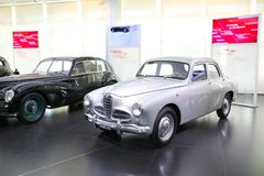 A superb Alfa Romeo 1900 model on display at The Historical Museum Alfa Romeo. Arese, Italy - A superb Alfa Romeo 1900 model on display at The Historical Museum stock photo