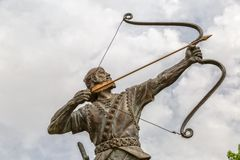 Aresh with bow and arrow Stock Images