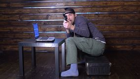 Aresztować cyber przestępcy oskarżenie cyber przestępstwo zdjęcie wideo