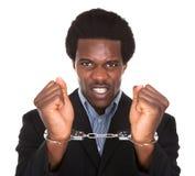 Aresztujący mężczyzna Z Kajdanowymi rękami Obraz Royalty Free