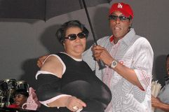 Aretha Franklin, Arsenio Hall Lizenzfreie Stockbilder