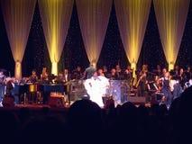 Aretha Franklin exécutant à la célébration pour l'ouverture officielle de la bibliothèque présidentielle le 18 novembre 2004 à Li Images libres de droits