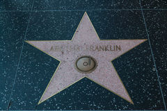 Aretha Franklin Hollywood Star Royalty Free Stock Photo