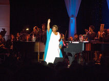 Aretha Franklin performing at the celebration for the official opening of the William J. Clinton Presidential Library November 18, Stock Photography