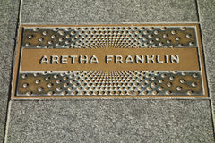 Aretha Franklin Plaque Arkivbild