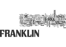 Aretha Franklin The Story Of The Queen Of Soul Word Cloud. ARETHA FRANKLIN THE STORY OF THE QUEEN OF SOUL TEXT WORD CLOUD CONCEPT royalty free illustration