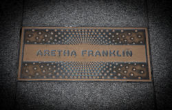 Aretha Frankling paving slab Stock Photos