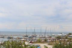 Aretsou del puerto deportivo fotos de archivo