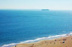 Aérez le ressort New York de secteur de plage d'île de lapin de vue Image stock