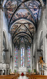 Arezzo Cathedral Central Nave Royalty Free Stock Images