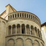 AREZZO. Exterior of the apse of Santa Maria della Pieve Stock Photos