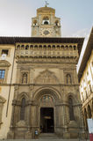 AREZZO. Facade of the Palace of the Lay Fraternity in Great Square Stock Image