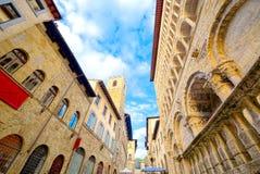 Arezzo główny kurs historia i sztuka zdjęcie stock